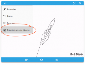 "Select ""Tablet Screen Mirroring"""